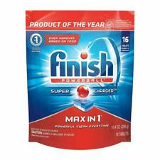 FINISH POWERBALL MAX IN 1,Wrapper Free Dishwasher Detergent Tablets 16 ct