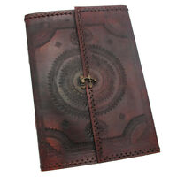 Indra Fair Trade Handmade A4 Embossed Stitched Leather Journal 2nd Quality