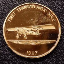 Spirit of St Louis Transatlantic Flight 1927 Leonardo da Vinci Bronze Medallion