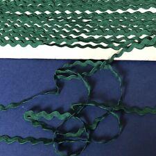 10mm Dark Green Ric Rac Braid Clearance 50 Metres