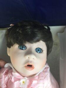 "NEW RARE Marie Osmond Porcelain Doll ""AMY"" & Bunny Limited Edition C7606 1991 20"