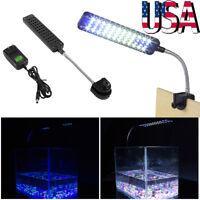 Flexible 48 LED Aquarium Light Flexible Arm Clip on Plant Grow Fish Tank Lamp US