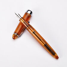 Jinhao 992 Spiral Transparent Office Fine Nib Coffee Colour Fountain Pen Gift