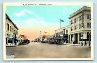 Anaheim, CA - 1900s EAST CENTER STREET SCENE & OLD CARS - POSTCARD