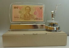 Thailand100 Baht Commemorative 84th King Rama9 Banknote Frame, Pouch & Music Box