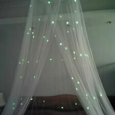 Mosquito Bed Net Children Kids Canopy Hanging Dome Tent Glow in Dark Star Decor