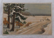 AK zum neuen Jahr verschneite Landschaft 1916 als Feldpost gelaufen
