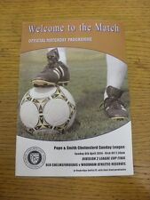 06/04/2014 Chelmsford Sunday League Division 2 Cup Final: Old Chelmsfordians v W