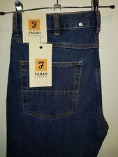Stylish BNWT denim jeans by FARAH - Murray Rigid - Mid blue W36 L32