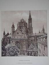 c71b-19 Cathédrale de Strasbourg - côté est pris du grand séminaire