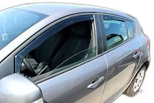 DRE27177 Renault Megane mk3 HTB 08-up wind deflectors 4pc TINTED HEKO