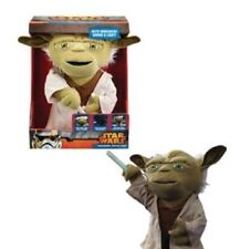 STAR WARS LIGHTSABER BATTLE YODA DELUXE 16-INCH TALKIN PLUSH