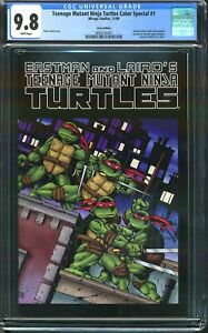 MISPRINT/ERROR/RECALLED TMNT #1 CGC 9.8 1st Color Printing Turtles 2009 Special
