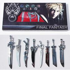 8PC FFVII Final Fantasy VII 7 Cloud Strife Sword Weapon Collection Box Set