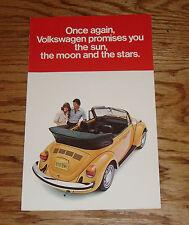 Original 1978 Volkswagen VW Beetle Convertible Sales Folder Brochure 78