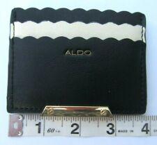 ALDO Black and Ivory Scalloped Edge Card Holder