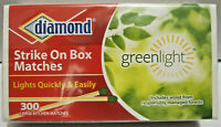 300 ct New Diamond Strike On Box Kitchen Matches Greenlight Thick