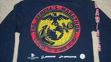 (Sleeve Graphics) Marine Corps Marathon Competitor Shirt Sm MCM Arlington USMC