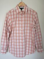 BANANA REPUBLIC Mens Peach Non Iron Slim Fit Button Front Shirt Sz Small 14 14.5