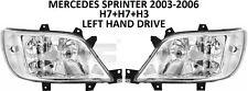 MERCEDES SPRINTER FRONT 2 HEADLAMPS HEADLAMP HEADLIGHTS WITH FOG LIGHT 03-06 LHD