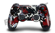 Playstation 4 (PS4) Controller Cover / Skin / Wrap - Red & Black Camouflage