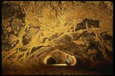 194096 Lava Tubo Con Oro Techo Lava camas Natl Monumento Ca A4 Foto Impresión