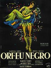 Orfeu Negro Marcel Camus cult movie poster print