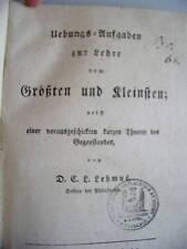 Übungsaufgaben zur Lehre vom Größten und Kleinsten 1823