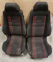VW GOLF MK3 VENTO 3DR GTI LIMITED EDITION RECARO RED BLACK SEATS CARDS INTERIOR