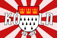 Köln 1948 Fanfahne Fanflagge Fußballfahne Fahne Flagge 1,50x0,90m mit Ösen