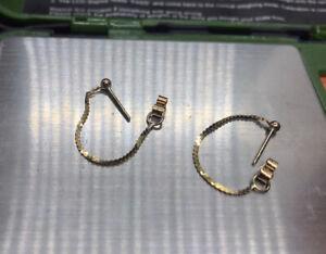 9ct Gold Chain Earrings.