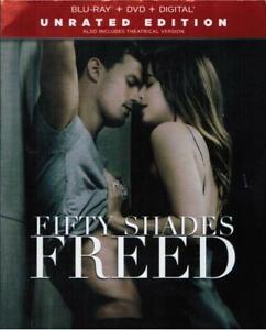Fifty Shades Freed Blu-ray+DVD+Digital 2018 Unrated Edition Dakota Johnson Movie