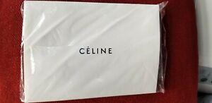 NEW AUTH CELINE PARIS SUNGLASSES EYEGLASSES BLACK SUEDE ZIPPER CASE POUCH+CLOTH