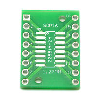 10PCS SOP16 SSOP16 TSSOP16 To DIP16 0.65/1.27mm IC Adapter PCB Board ux