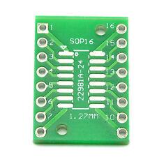 10PCS SOP16 SSOP16 TSSOP16 To DIP16 0.65/1.27mm IC Adapter PCB Board Best UK