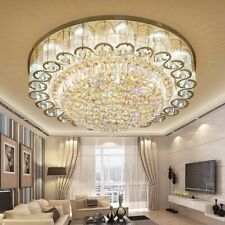 """31.5"""" Luxury Crystal Chandeliers Led Ceiling Lamps Flush Mount Lighting Fixtures"""