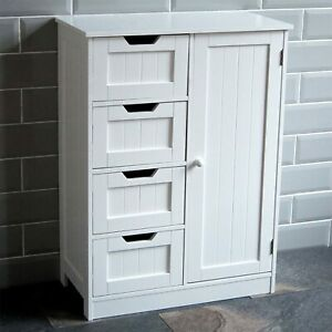 Bath Vida Bathroom Cupboard 4 Drawer 1 Door Floor Standing Cabinet (SEE DESC)