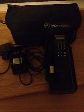 Vintage Collectable Motorola 4800X Cellular Mobile Phone ~ 1988 ~ Carry Case etc