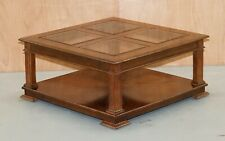 BEAUTIFUL BARKER AND STONEHOUSE COFFEE TABLE WITH GLASS TOP