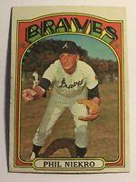 1972 Phil Niekro Topps Card 620 Braves