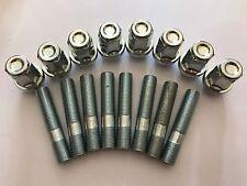 8 x M12X1.25 Borchie Cerchi In Lega + Dado di conversione 60mm di lunghezza si adatta ALFA ROMEO 58.1