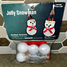 Vintage Lee Wards Jolly Snowman Christmas Tree Ornament Kit Sequins & Beads NOS