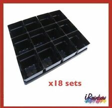 Punnet Plant Pots Square 100mm + Seed Tray  x 18 sets - Propagation & Seedling