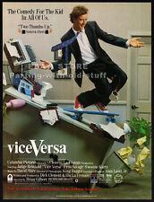 VICE VERSA__Original 1988 Print AD / movie promo__JUDGE REINHOLD__FRED SAVAGE