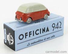 Officina 942 art1009b scala 1/76 fiat 600 multipla 1956 red cream modellino auto
