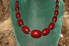 Antique Cherry Amber Graduated Bead Necklace 45 Grams