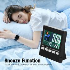 LCD Display Indoor Thermometer Digital Hygrometer Humidity Meter Alarm Date New