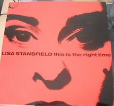 """LISA STANSFIELD THIS IS THE RIGHT TIME 12"""" VINYL SINGLE ARISTA UK 1989"""