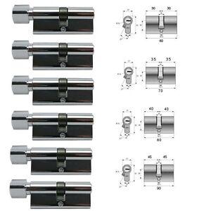 Türzylinder Profil- Knauf- Zylinder 60-70-80-90 Gleichschließende Türschlösser