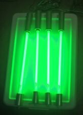 Lot 4 Fast Furious StreetGlow 15 Inch Green Neon Tubes With 4way Plug -Free Ship
